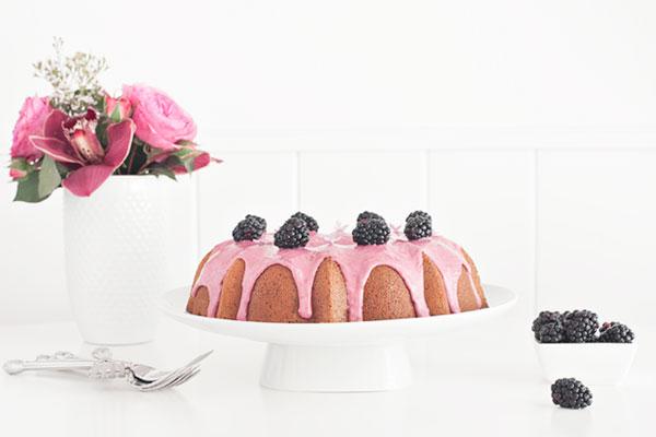Blackberry Poppy Seed Bundt Cake