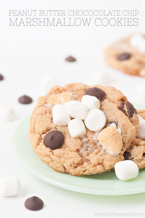 Peanut Butter Chocolate Chip Marshmallow Cookies | Sprinkles for Breakfast