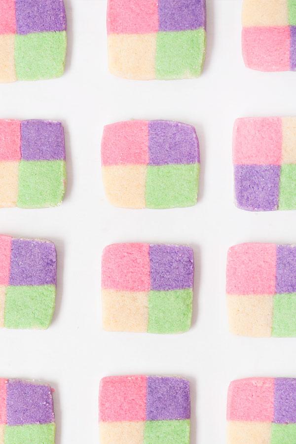 Colorful Checkerboard Cookies | Sprinkles for Breakfast