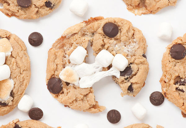 Peanut butter chocolate chip marshmallow cookie