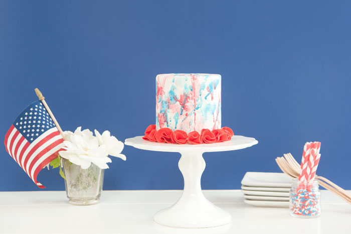 Red white and Blue Patriotic cake