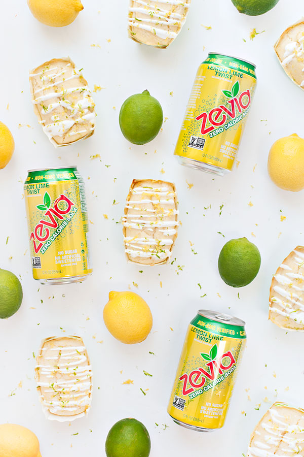 These Mini Lemon-Lime Soda Pound Cakes made with Zevia are a guilt free way to have a sweet treat! This recipe is totally sugar free!