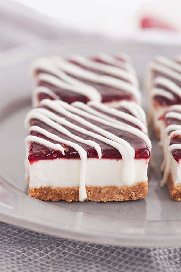 White Chocolate Raspberry Cheesecake Bars | Sprinkles for Breakfast