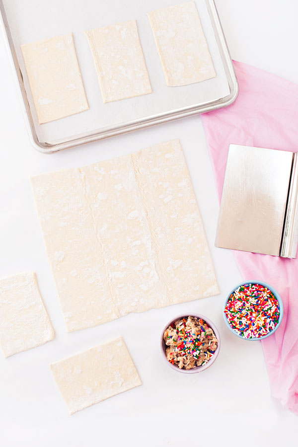 Confetti Cookie Dough Pastry Pockets | Sprinkles for Breakfast