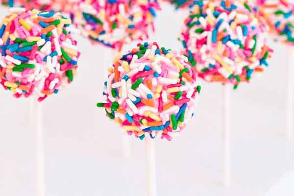 Strawberry Confetti Cake Pops