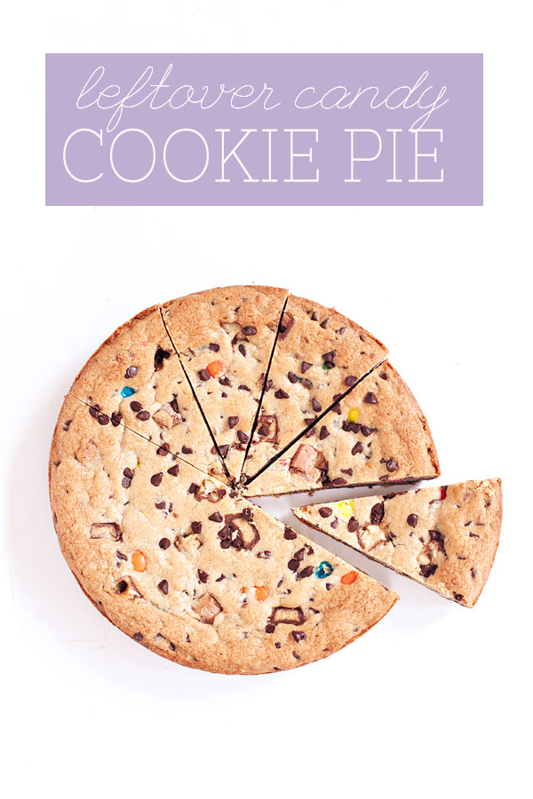 Leftover Candy Cookie Pie | Sprinkles for Breakfast