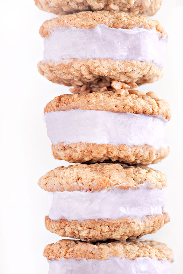 Lavender Toffee Ice Cream Sandwiches | Sprinkles for Breakfast