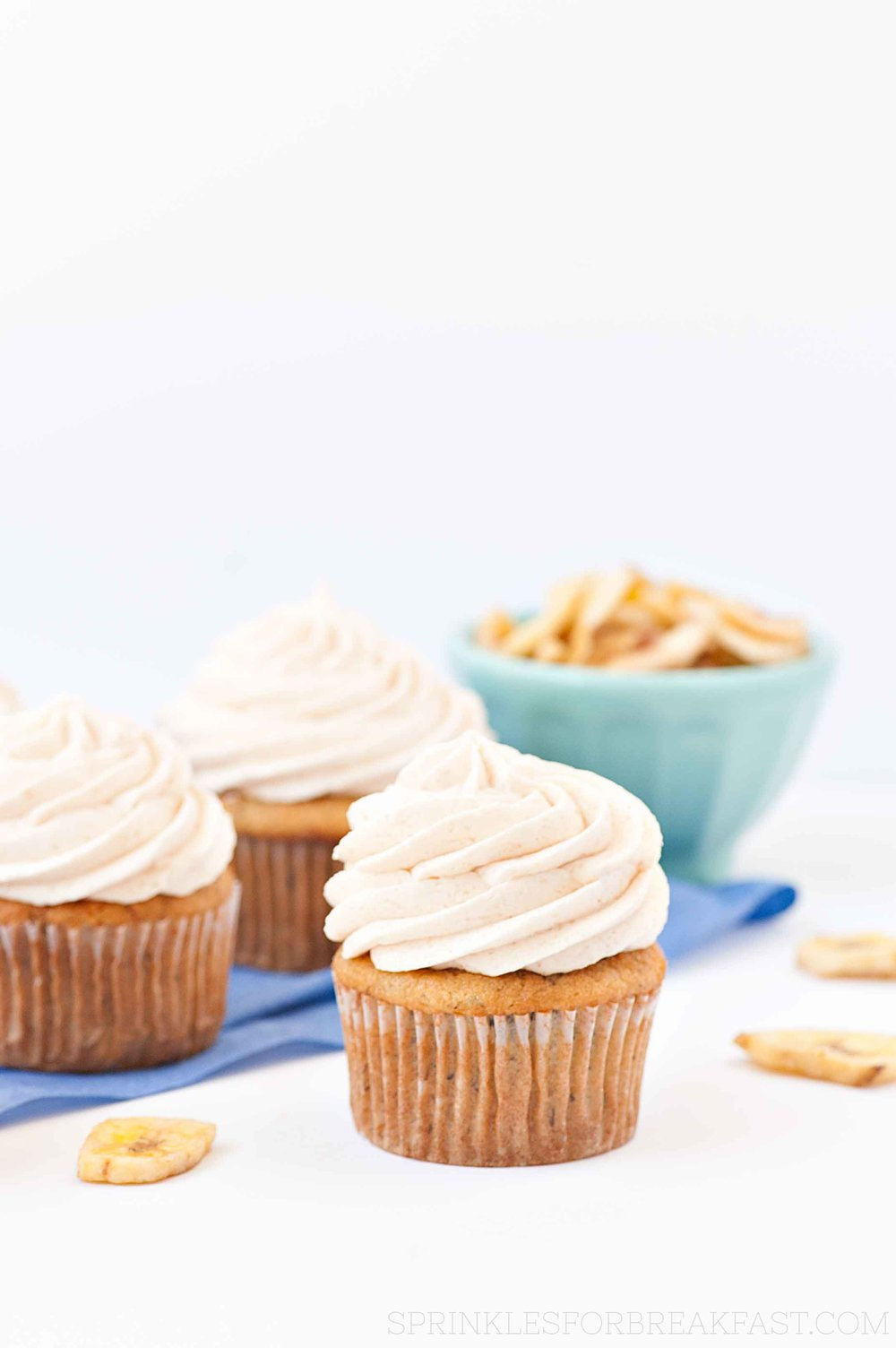 Banana Caramel Cupcakes | Sprinkles for Breakfast