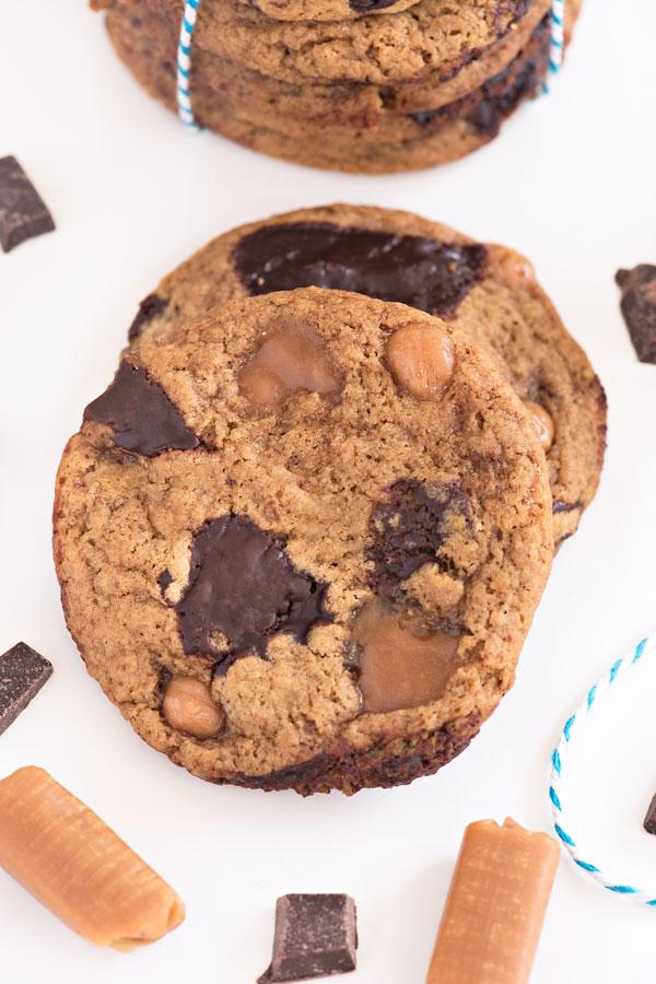 Chocolate Caramel Gingerbread Cookies | Sprinkles for Breakfast