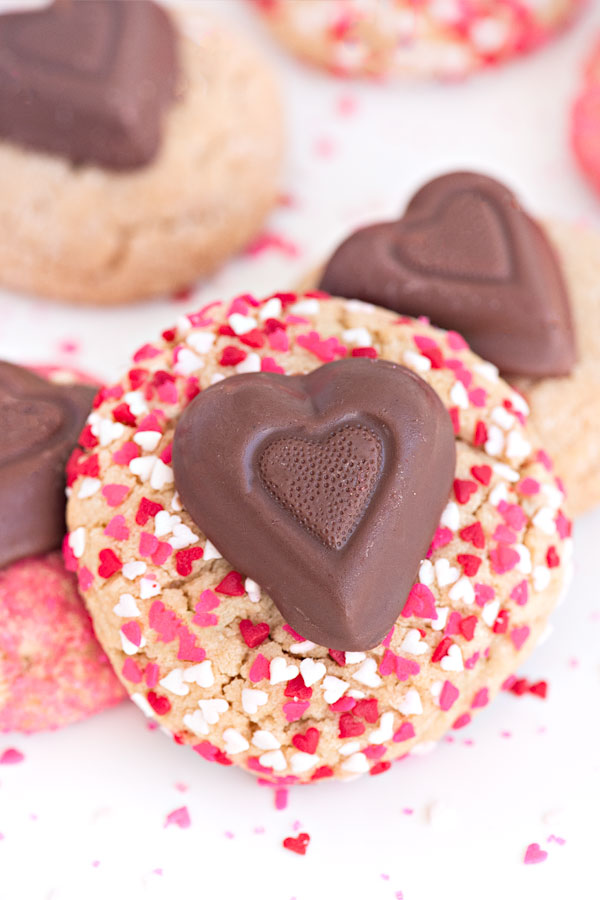 Valentine's Day Peanut Butter Blossoms | Sprinkles for Breakfast