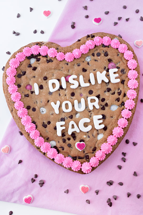 Anti-Valentine's Day Cookie Cake | Sprinkles for Breakfast