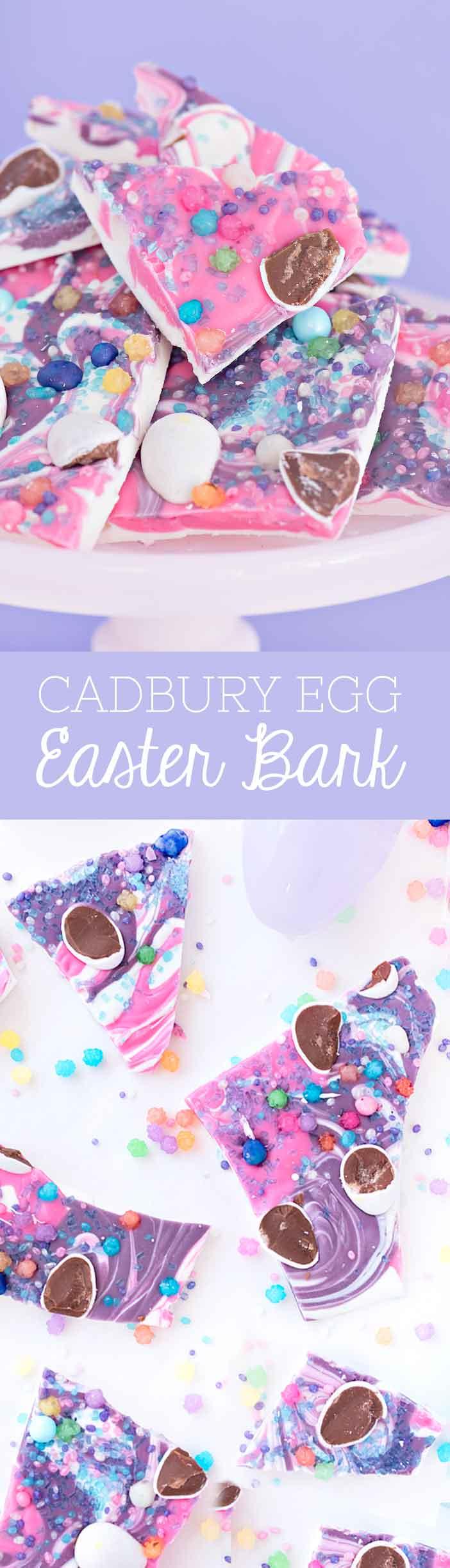 Cadbury Egg Easter Bark | Sprinkles for Breakfast