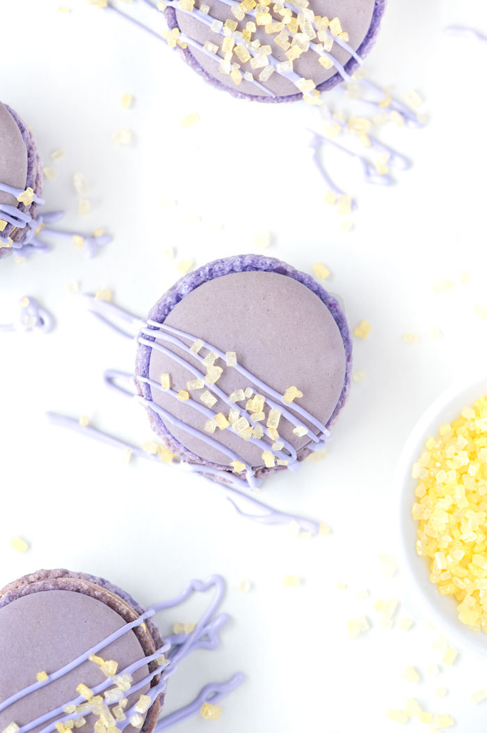 Lemon Lavender Macarons | Sprinkles for Breakfast