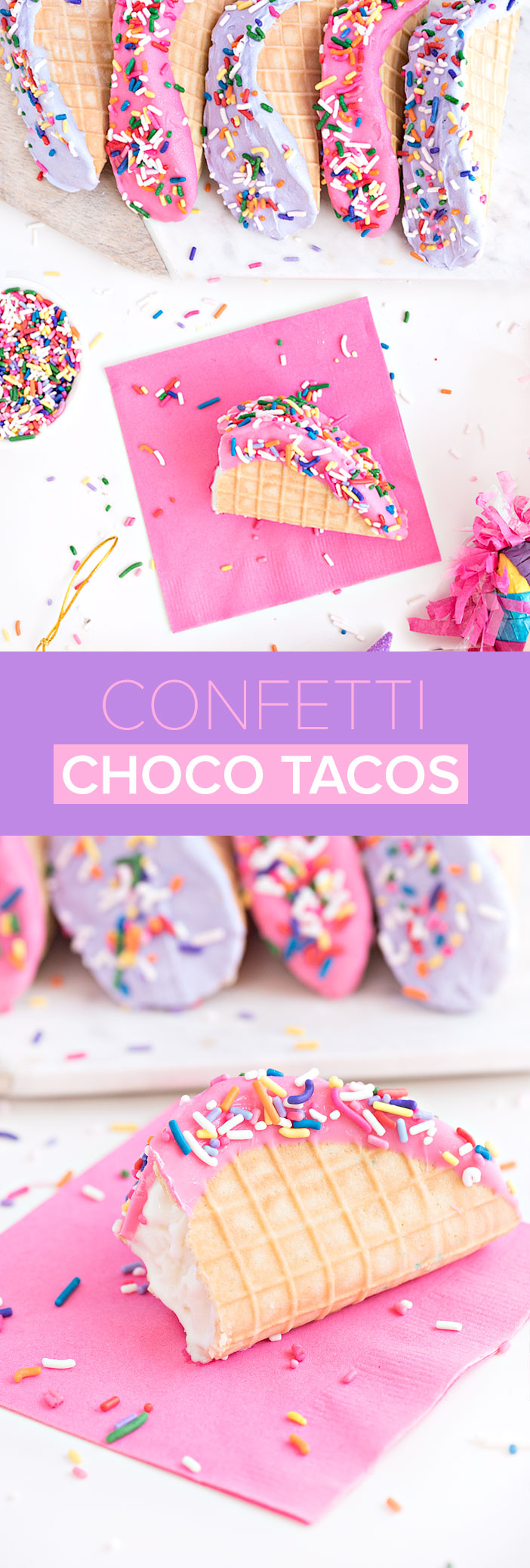 Confetti Choco Tacos perfect for Cinco De Mayo | Sprinkles for Breakfast