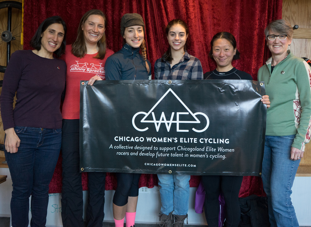 some chicago women's elite riders and directors: Francine haas, sarah szefi, daphne karagianis, dani arman, jannette rho, cathy frampton