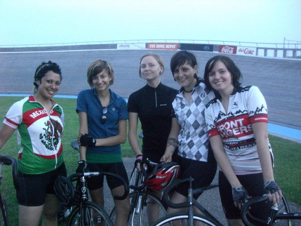 Marie at theBlaine velodrome.\