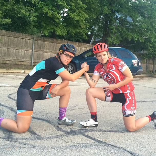 Kelly with julie K. of pepper palace pro cycling