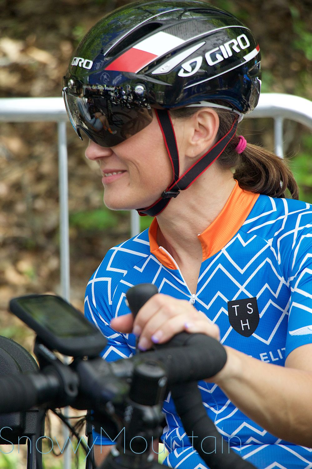 CWEC racer Christine Thornburg waits at the start. Photo by SnowyMountain Photography.