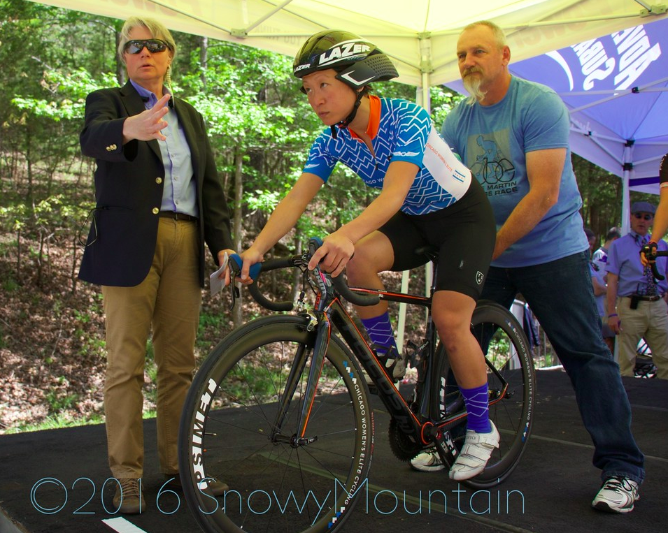 Jannette was the first CWEC rider to go in Thursday's time trial. Photo by SnowyMountain Photography.