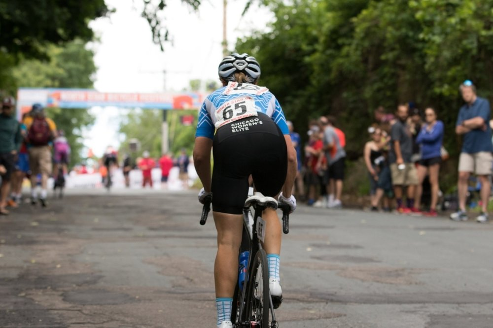 Christine on Stage 6 up the infamous Stillwater climb