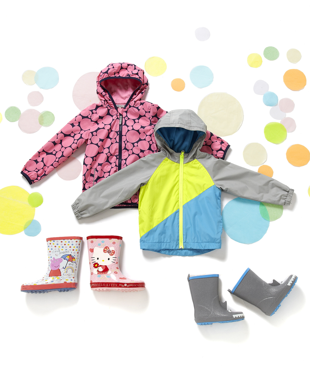 advertising product photography kidswear on colourful style still life setup by London product photographer chris howlett