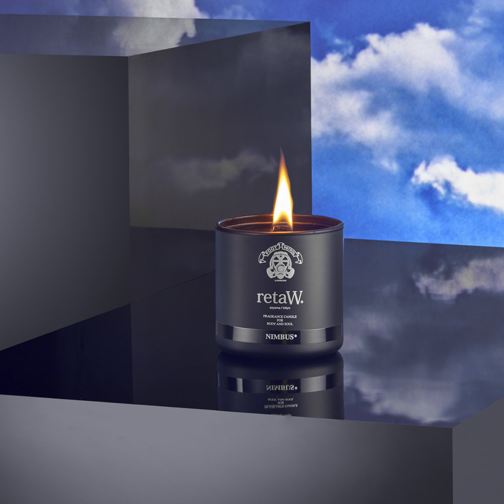 Individual product packshot of candle product shot in a premium luxury creative still life style from product photographer chris howlett