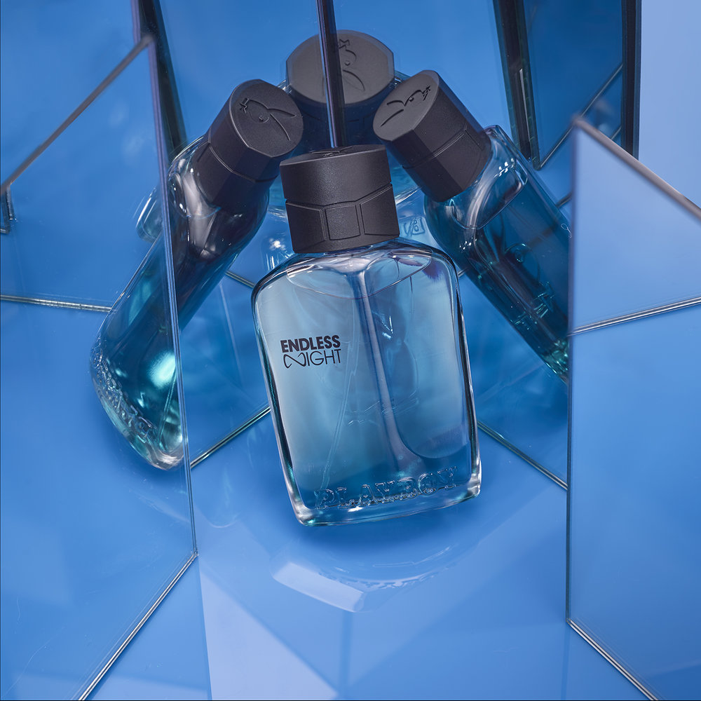 Mens perfume product packshot creative cosmetic photography by howlett photography in London