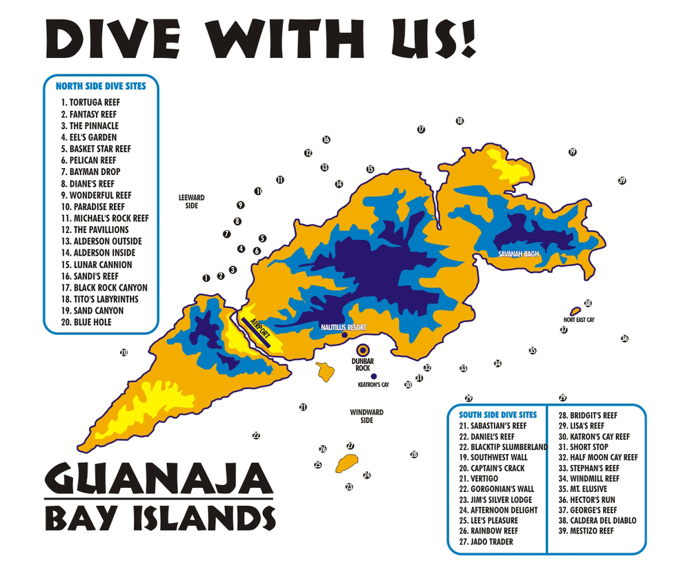 Click on t the map for more details regarding their dive sites.