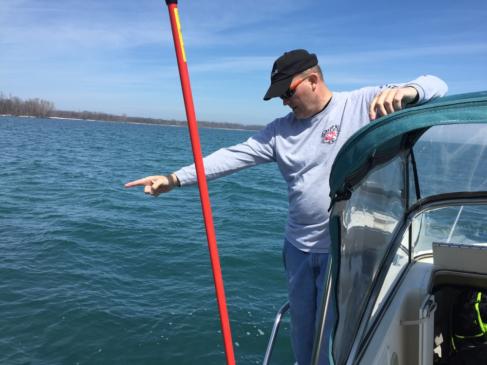 Captain/Diver Tim Brown spotted the wreck of the F.H. Prince.
