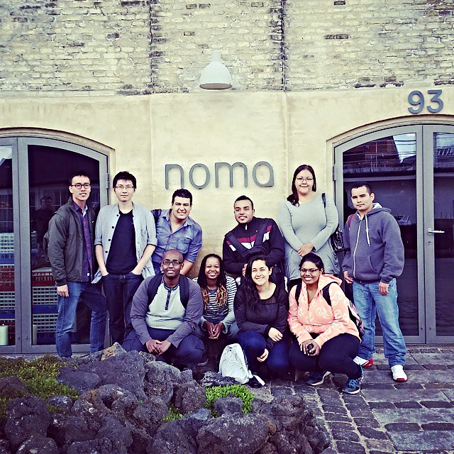 Syrena, bottom second left, with her fellow MAD4 Grant Recipients at Noma  Instagram: @cookingismyoccupation