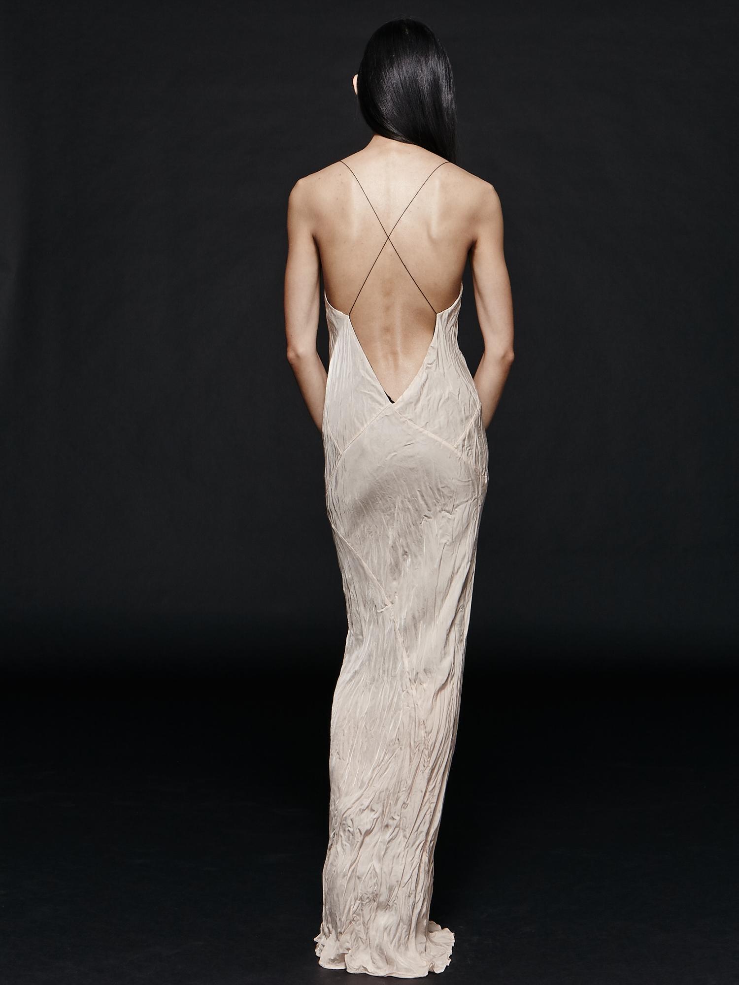 Long Plunge Dress - Blush    TITANIA INGLIS 422a8664a