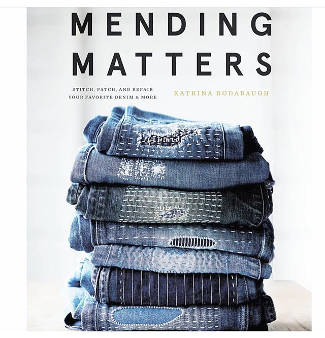 Today! The Brooklyn release party, book signing, and slow fashion panel to celebrate this stunning new book, Mending Matters, by Hudson Valley author and #slowfashion activist + #textileartist @katrinarodabaugh ➰ follow the trail to @tatterbluelibrary for all the details for this afternoon's sweet gathering and true blue fete for #mymendingmatters #katrinarodabaugh #textile #publications #mending #community #craft ➰