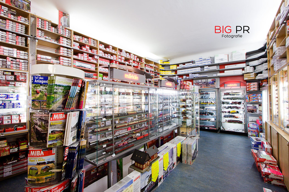 Eine große Ecke des Ladens ist allein der Märklin-Welt zugedacht.