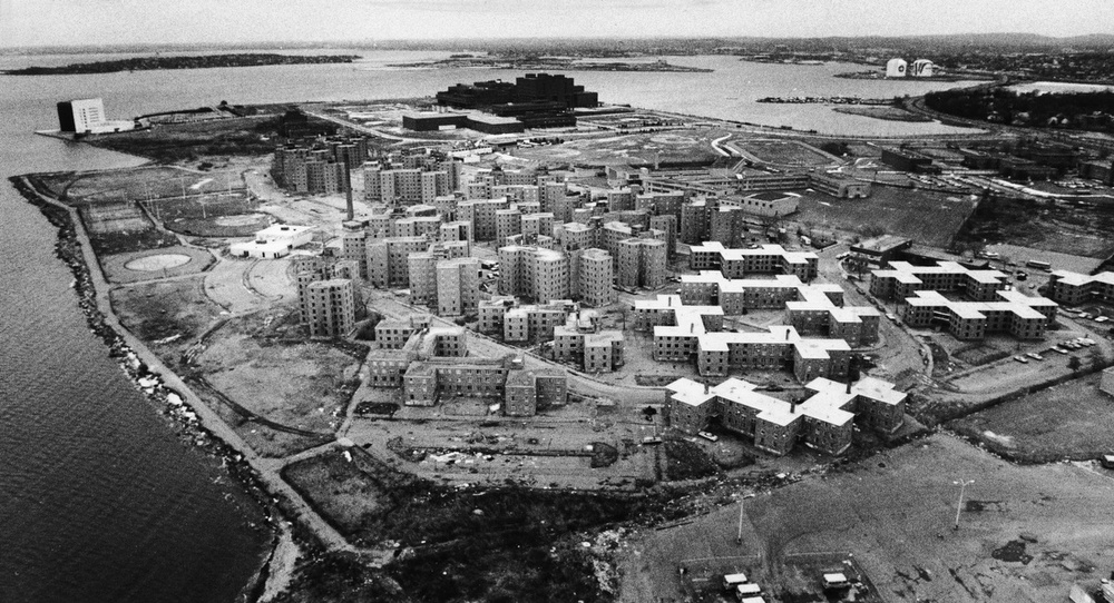 Aerial View Of Boston S Columbia Point The Globe Collection