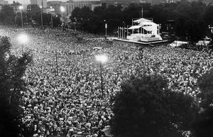 Crowd Gathers To Hear Pope John Paul II Say Mass