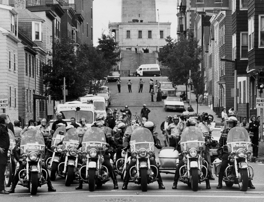 Police Patrol Near Bunker Hill Monument The Globe Collection