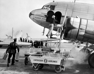 Unloading And Loading Planes At East Boston Airport