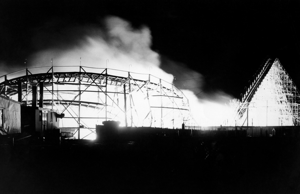 Paragon Park Roller Coaster Goes Up In Flames 1963 The