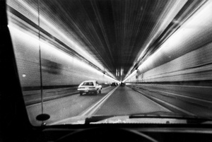 Cars Drive Though Callahan Tunnel 1983