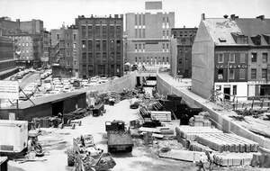 Construction Site Of Callahan Tunnel 1961