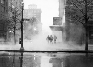 Morning Fog Outside John Hancock Hall 1967
