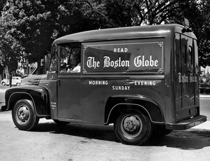 Boston Globe Delivery Truck 1953