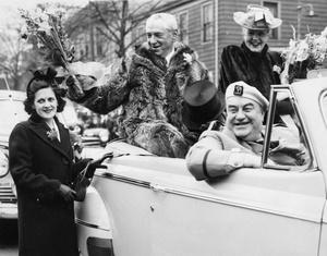 Mayor Curley Rides In Evacuation Day Parade 1947