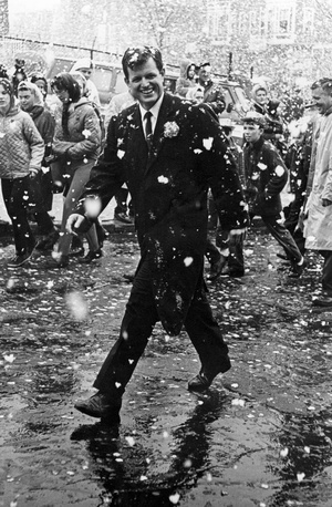 Ted Kennedy Marches In St. Patrick's Day Parade 1964