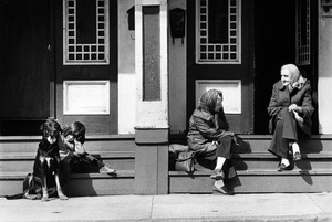 South Boston Sidewalk Scene 1980