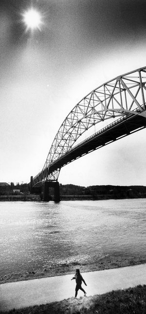 Sunny Day Below The Sagamore Bridge 1992