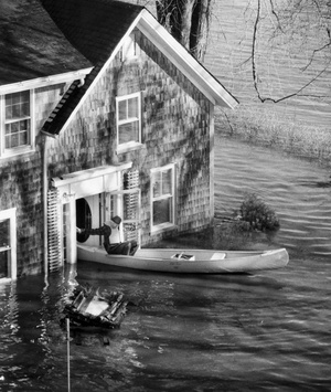 Canoeing Through Flooding In Lewiston 1987