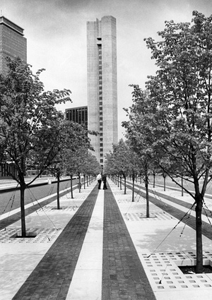 New Shade Trees At Christian Science Plaza 1976