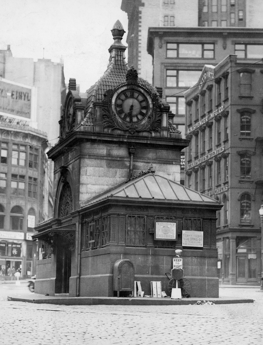Adams Square Subway Station 1931 The Globe Collection