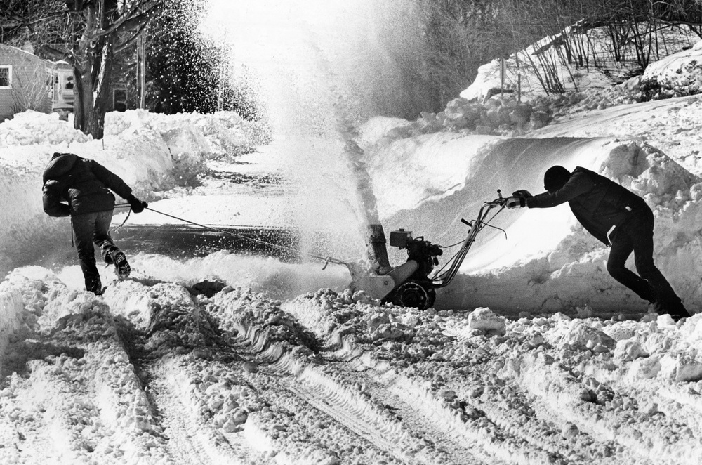 Snowblowing With A Little Help In Marblehead 1978 The